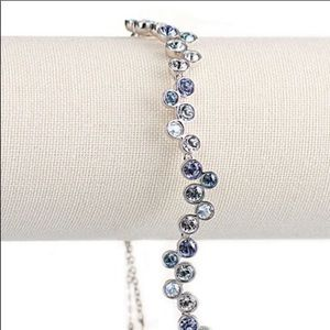 Swarovski fidelity bracelet (blue/white)